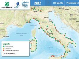 Mappa siti inquinati nella regione Marche